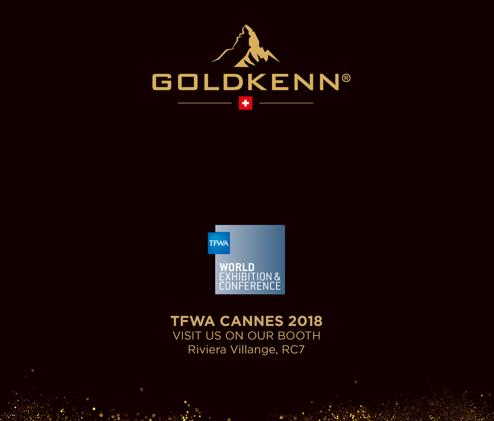 GOLDKENN attending TFWA (Tax Free World Association) in Cannes, France